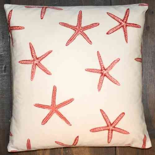 Lucy goes to Lapland - Cushion cover maker Robert Allen Muelle Bay starfish 35 x 35cm