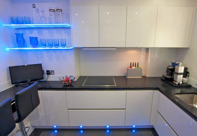 High gloss lacquer white kitchen modern kitchen london by lwk - White Gloss Handless Kitchen In Acrylic Finish With