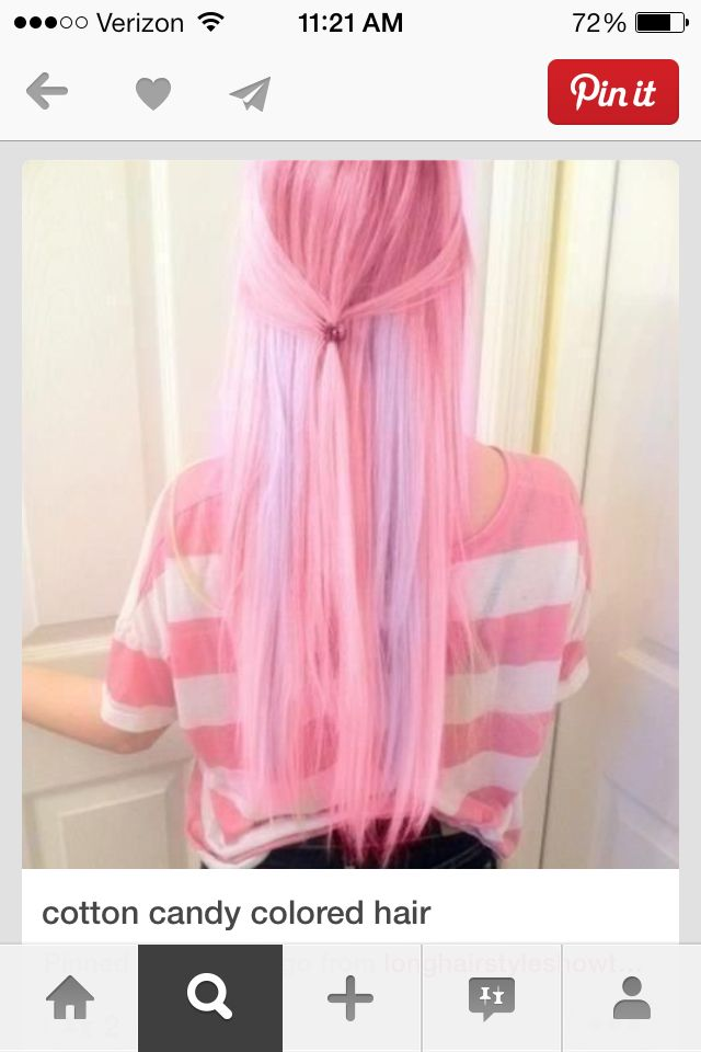 cotten candy hair color angel