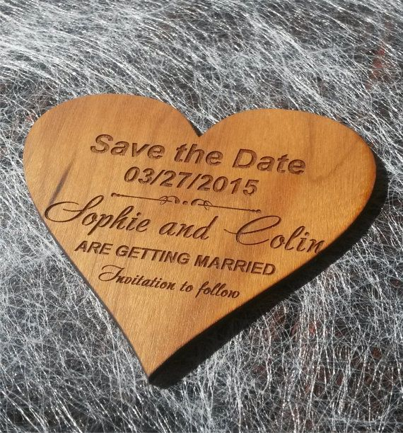 Save-The-date Magnet /Personalized  Wooden by AmazingWoodCraft
