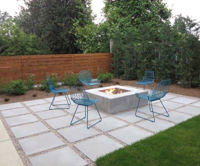 Losas de concreto para jardin