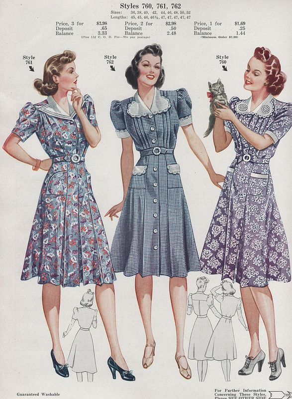 Fashion Frocks 1940 | Flickr - Photo Sharing!