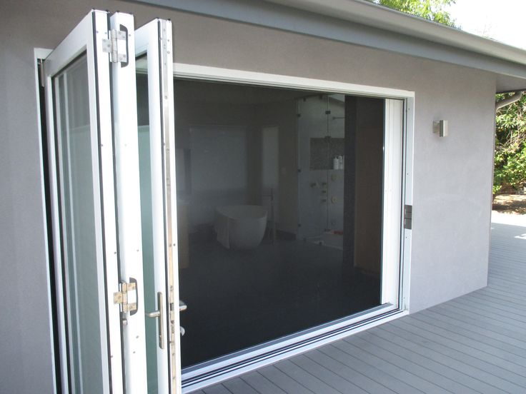 Our team did a unique installation of a double door Centor Screen with Black Super Screen on one side and White SheerWeave Blind for privacy on the other ... & 34 best Centor Architectural Insect Screens images on Pinterest