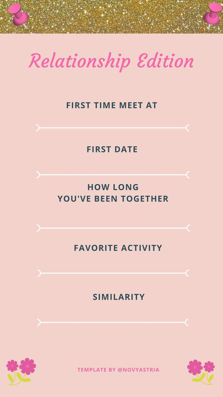 Instagram Story Template #relationship edition