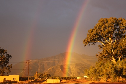 Double Rainbow on Willow Creek Olive Estate! Just before winter started 2012