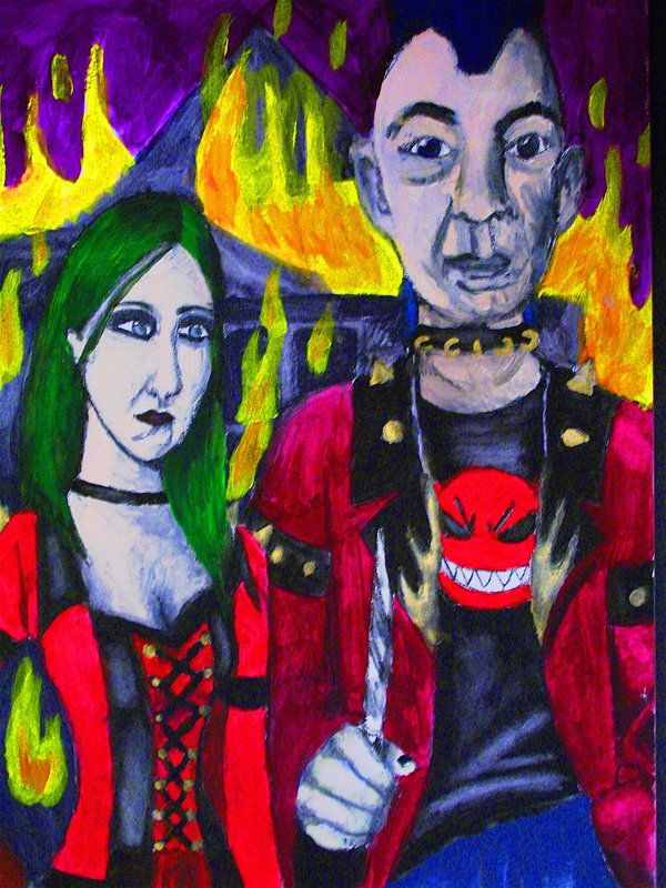 Paradoy of the American Gothic by MiraDemona.deviantart.com on @deviantART