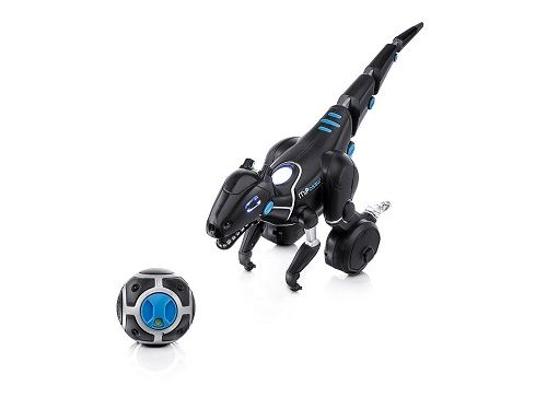 Meet MiPosaur he's a robotic pet toy dinosaur that responds to your every command! MiPosaur can play in 3 differentways with you, starting with your hand gest