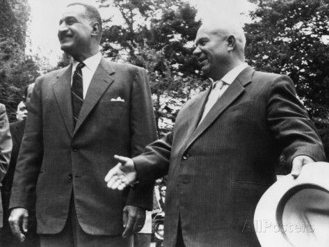 Soviet Premier Nikita Khrushchev and Egypt's President Gamal Abdel Nasser, Sept. 24, 1960.