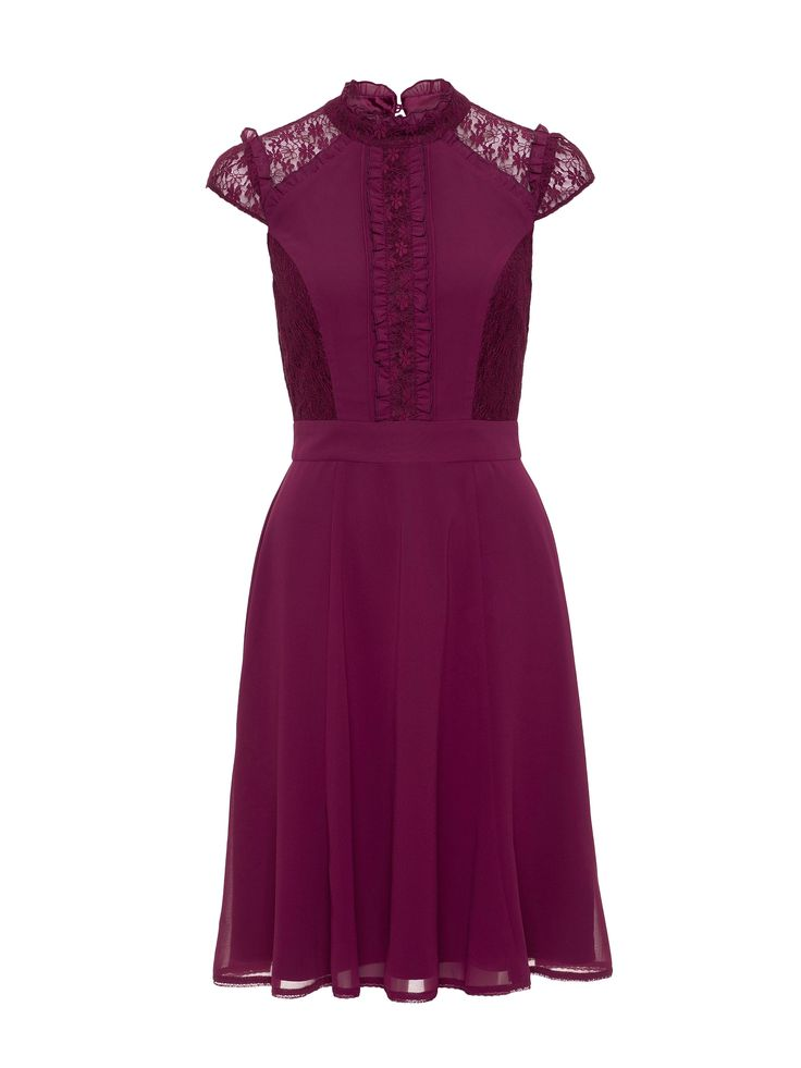Merriam Lace Dress | Wine | Dresses