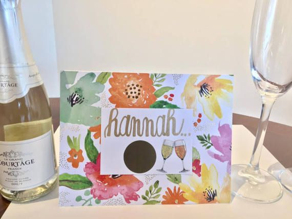Floral Bridal Party Ask Scratch-Off Card / Bridal Party Proposal / Bridesmaid Card / Maid of Honor Card / Customizable Bridal Party Cards