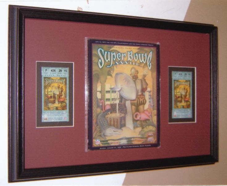Superbowl Memorabilia | Examples | Custom Framing | Pictures Frames and More