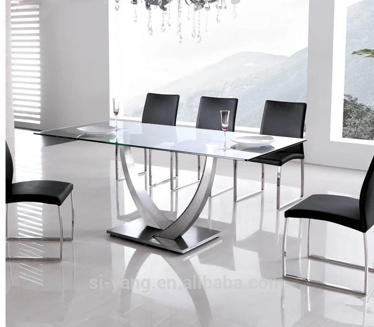 1000 Ideas About Glass Dining Table Set On Pinterest