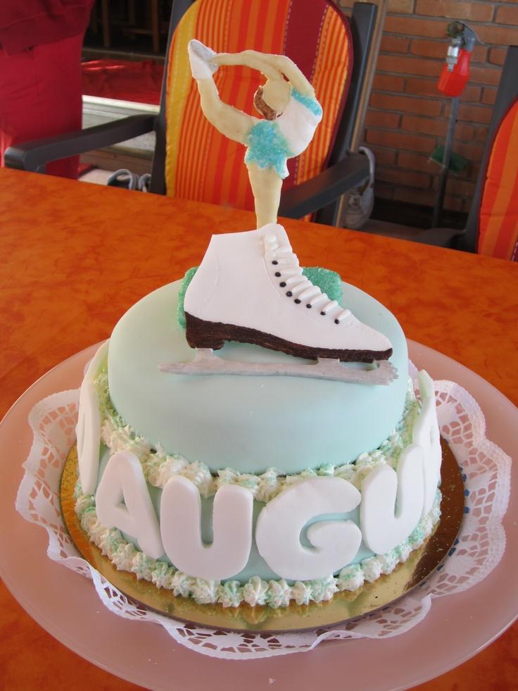 torta pattinaggio per i 20 anni di mia sorella