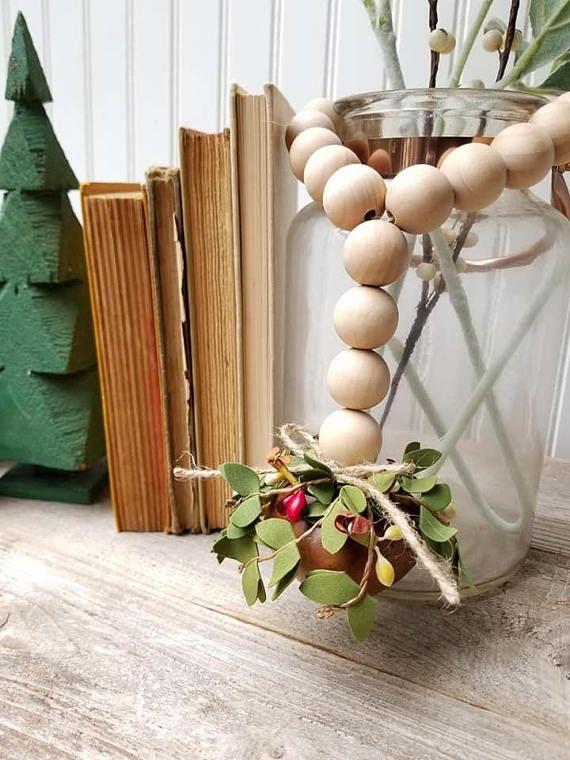 Christmas Decor Christmas Bead Garland Winter Decor Bell