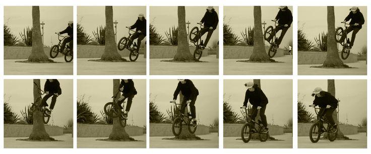 bmx street rider Nicolò Pediconi tree bump barspin sequence