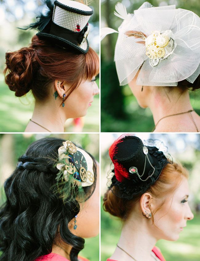 steampunk hair pieces - Photography by Leslie Hollingsworth.
