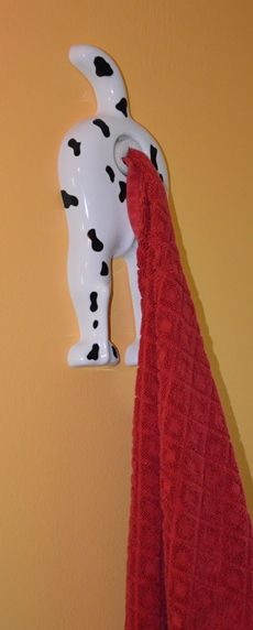 witziger handtuchhalter dalmatinerhintern tuch skurrile