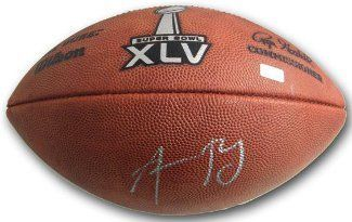 Aaron Rodgers signed Official NFL New Duke Super Bowl XLV Logo Football- Mounted Hologram by Athlon Sports Collectibles. $409.00. Aaron Rodgers was a first round draft pick of the Green Bay Packers in the 2005 NFL Draft. Rodgers finally got the starting nod prior to the 2008 season, and hasn't looked back since. Rodgers has led the Packers to the playoffs for two straight seasons, (2009: 4.434 yards 30 TD a 7 INT, 11-5 record) and arguably did his best work in 2010, putting th...