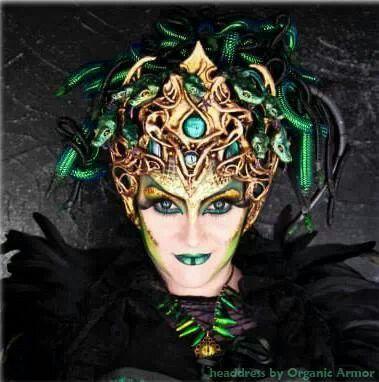 Medusa. Headress by organic armor.