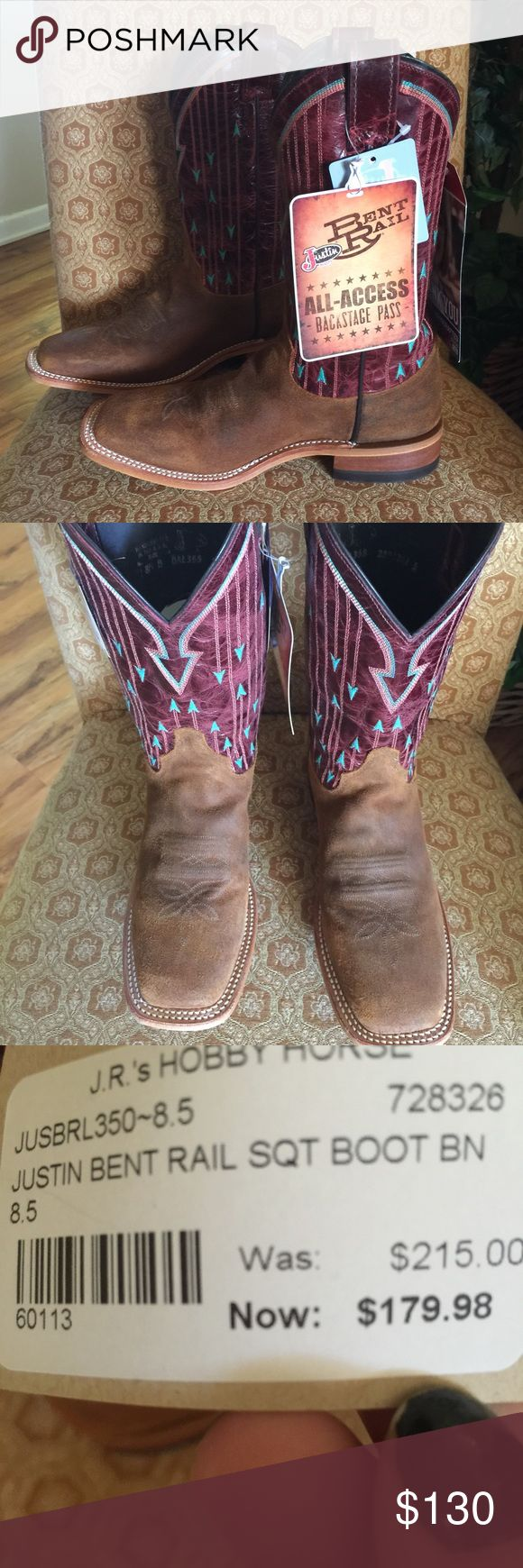 Justin Boots - New!! New with tags.  Never worn.  Still in box.  Purchased September 2016.  Cross-listed. Justin Boots Shoes