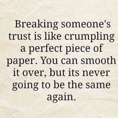 Breaking someone's trust                                                       …