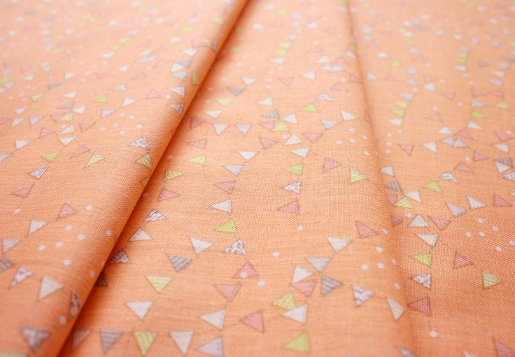 Anthology Fabrics Lullaby Baby PR552 bunting fluorescent orange
