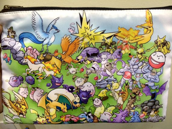 Pokemon Original 151 Double Sided Zip Bag by Rosewine on Etsy