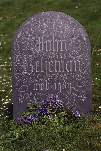 Poet John Betjeman's grave at St Enodoc in Cornwall