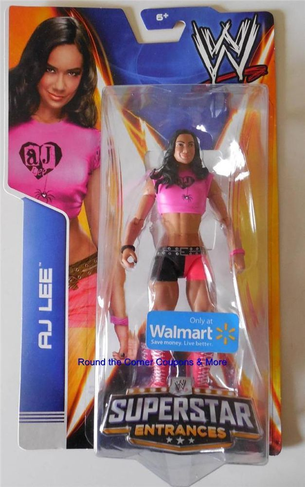 Mattel Wwe Diva Aj Lee Wrestling Figure Walmart Exclusive A J