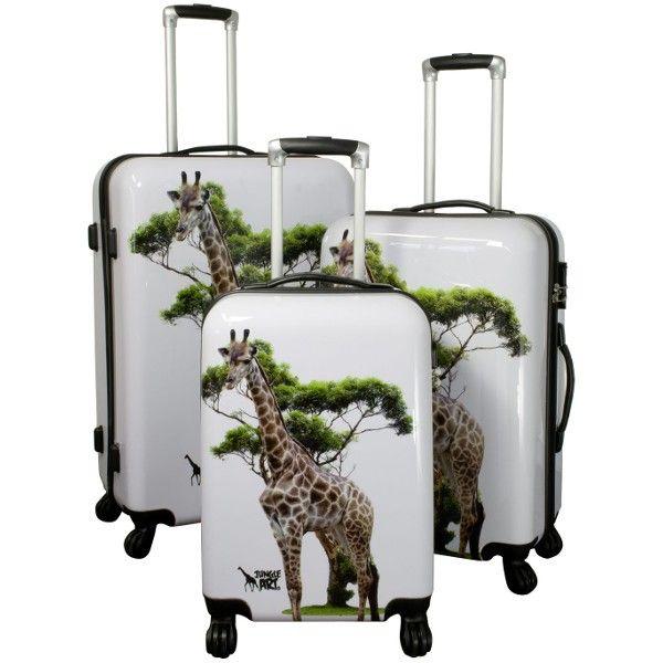 3 st i set - Resväska Djungel Art giraff via Shop4you.se. Click on the image to see more!