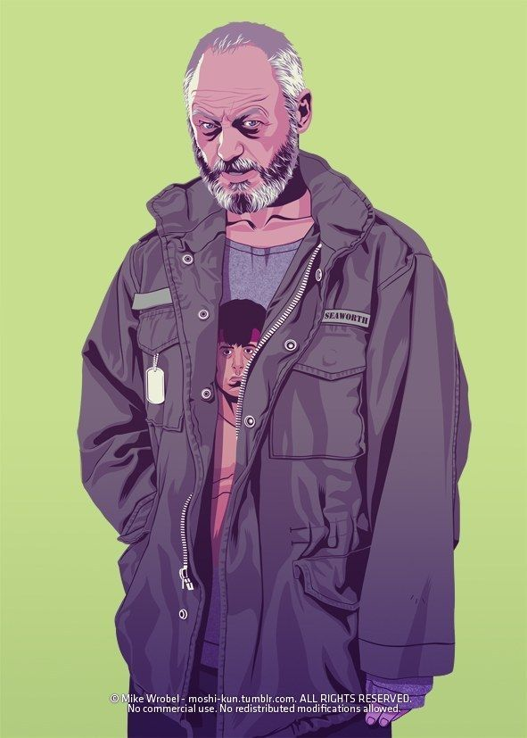 """Ser Davos Seaworth"" #GoT #GameOfThrones: Tokyo-based French artist Mike Wrobel has given nearly every Game Of Thrones character a '80s or '90s makeover"