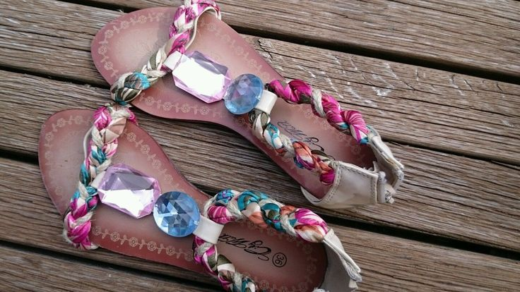 Sandalen 36, bunt mit Schmucksteinen | eBay
