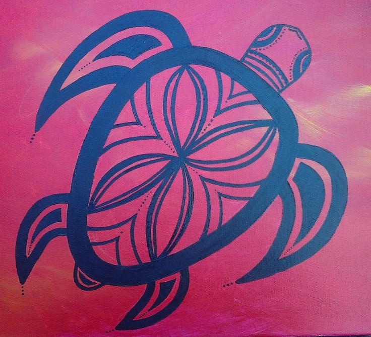 """LittleTaniwha: Artwork Gallery  """"Swimming in a Sunset Sea""""   Acrylic on boxed canvas 600mm x 500mm x 20mm  ~ motivated by my love of turtles and experiences swimming with them in Savaii, Samoa."""