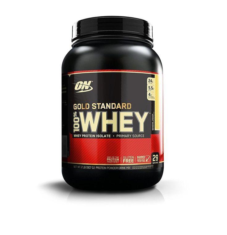 Optimum Nutrition Gold 100% Whey Protein Powder 2 Pounds Banana Cream Low Cost  #OptimumNutrition
