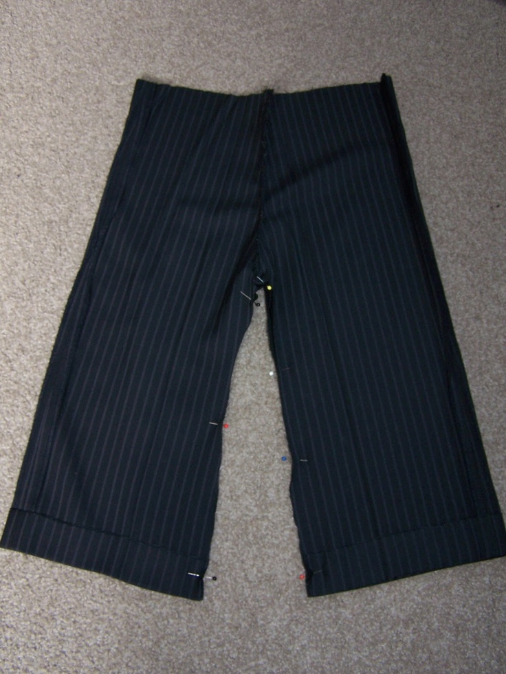 Up-cycling mens trousers into little boys pants. Lilly-Belle Makes The Internet: Daddy Pants