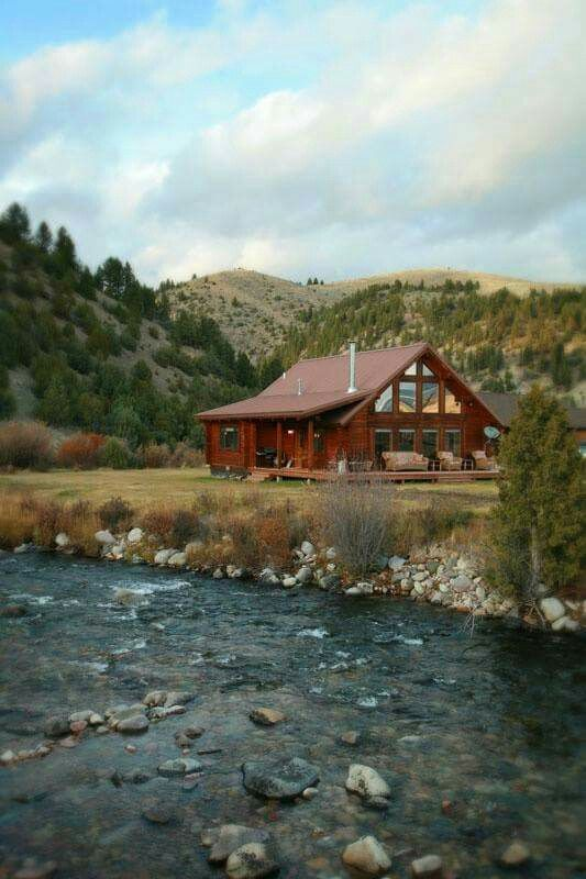 My ranch house cabin by the river. Well a gal can dream. #TravelwithHSN
