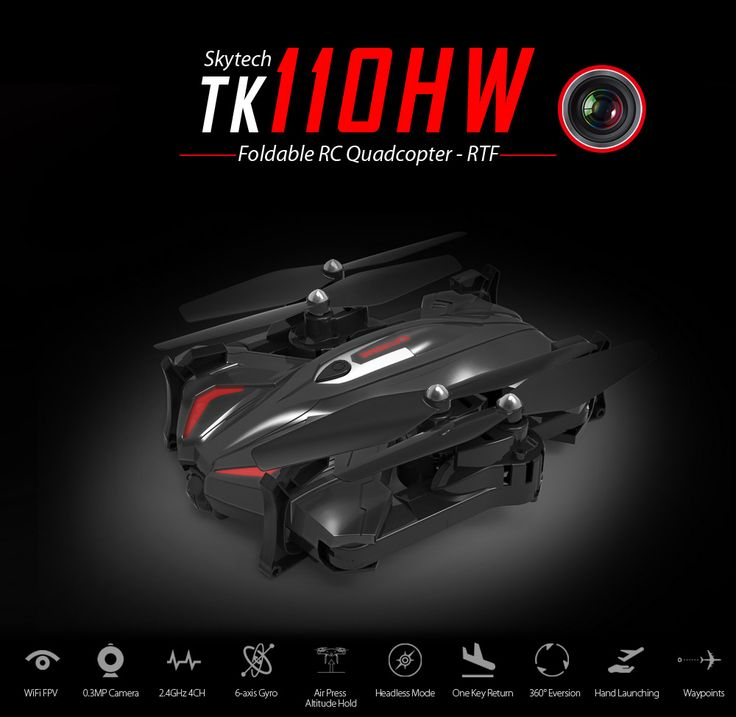 Foldable RC Drone WiFi FPV Flying Helicopter With Camera Air Press Altitude Hold G Sensor