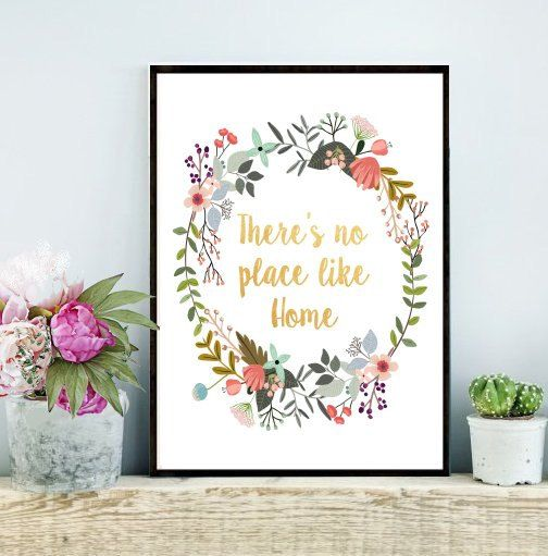 Theres No Place Like Home Housewarming gift by PaperStormPrints