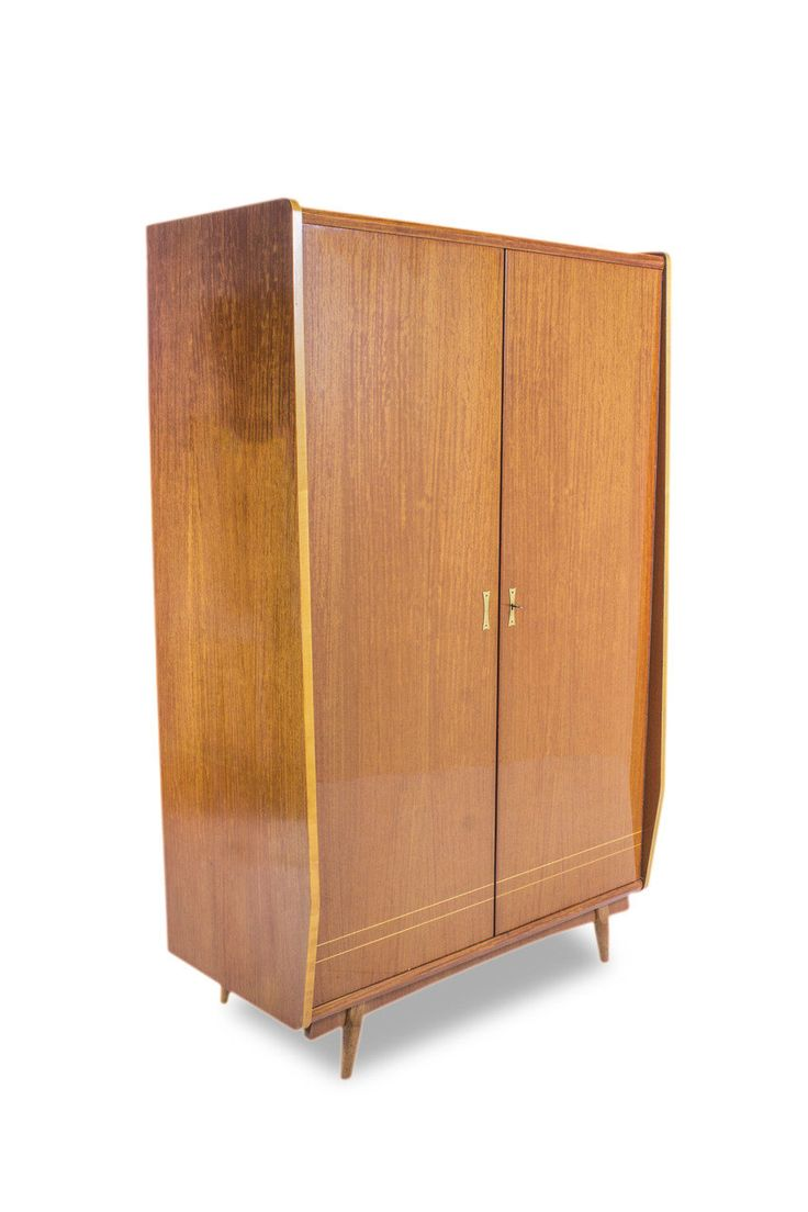 Mid Century Italian Blonde Gloss Sycamore Armoire by Sirlin and Sons. MCM. Vintage. by ModCenturyVintage on Etsy