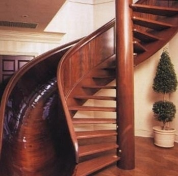 slide and a staircase!