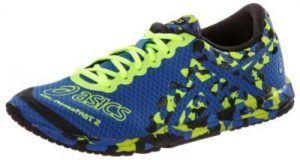 Schuhe günstig kaufen   ASICS Gel Noosa Fast 2 Laufschuhe Damen blau/neongelb   08718108706923