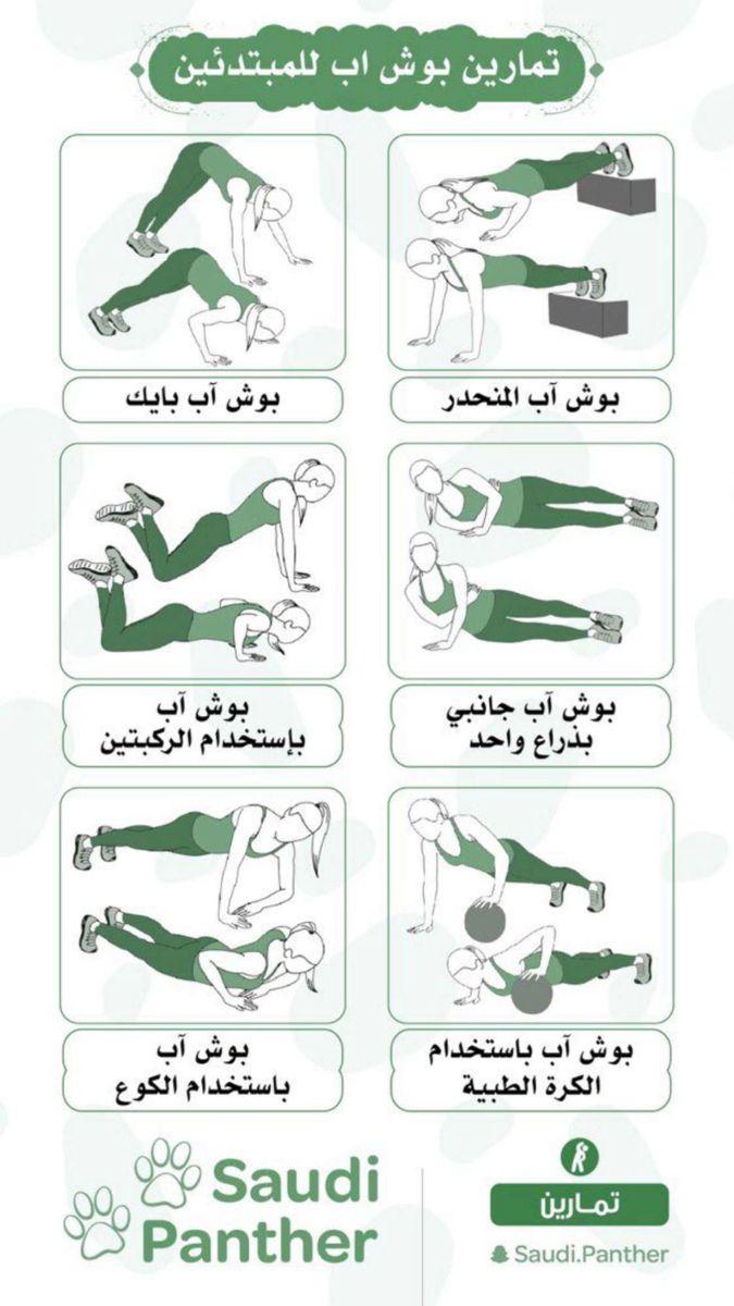 تمارين بوش اب للمبتدئين Chest Workout Gym Workout Tips Gym Workouts