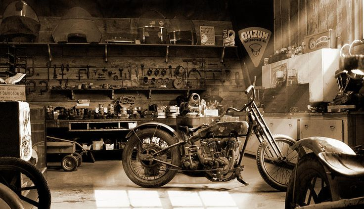 Old Motorcycle Shop Photograph  - Old Motorcycle Shop Fine Art Print