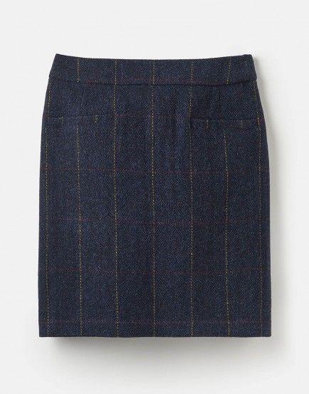 be149e10b4d5f Joules Sheridan Tweed Skirt Navy Tweed