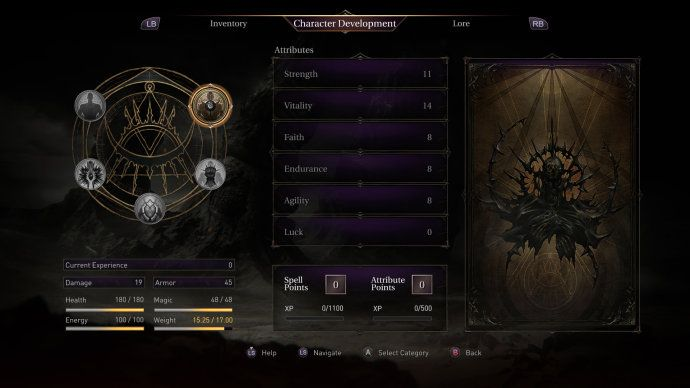 【UI精品】《LordsoftheFallen堕落之王》游戏界面设计