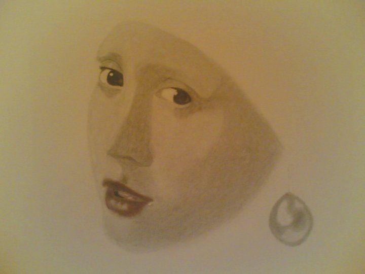 Durante la realizzazione di questo ritratto il mio corpo fu fulminato da un brivido gelato. Una mia riproduzione.