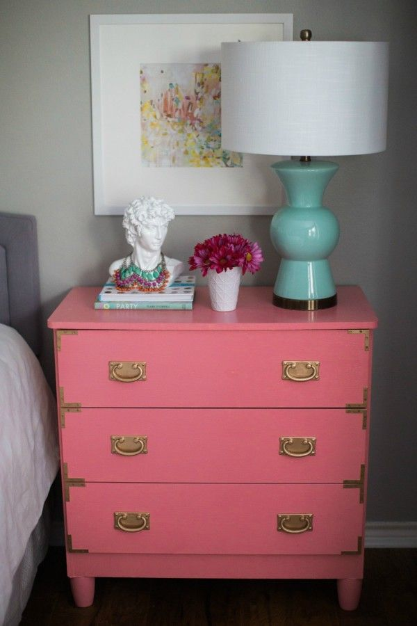 Bedroom Styling Ideas // Small Dresser As Bedside Table For More Storage