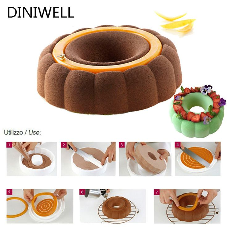 Bakeware & Tools Baking Pastry Mould Round & Castle Design Silicone Mold For Breads Mousse Cake Brownie Cornbread Cheesecake