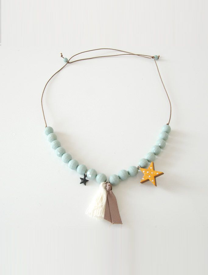 The Lucky Star/ Elegant beaded necklace/ by Wunway