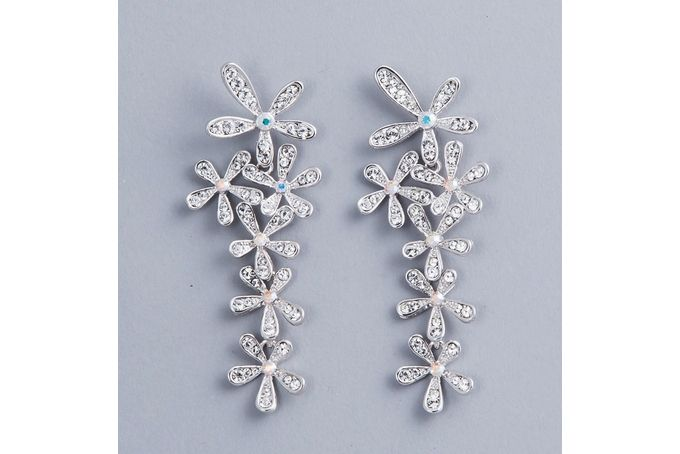 Civetta Spark clear crystal earring E0102 - Rhodium-plated with Swarovski elements  by Civetta Spark